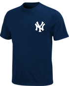 Yankees Navy Wordmark Youth Tee