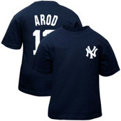 Yankees A-Rod Nickname and Number Toddler Tee