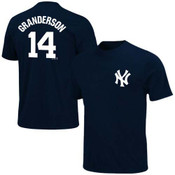Yankees Curtis Granderson Name and Number Youth Tee