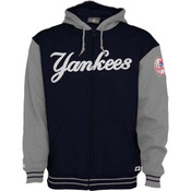Yankees Full Zip Hooded Fleece Jacket