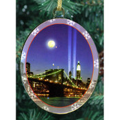 WTC Memorial Lights Double Sided Ornament