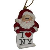 Santa Loves NY Christmas Ornament
