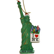 Statue of Liberty Loves NY Christmas Ornament