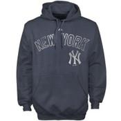 """Yankees """"Hook Slide"""" Navy Hooded Fleece"""