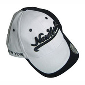 White/Navy Script New York Hat