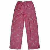 Yankees Pink Flannel Youth Pajama Pants