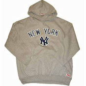 "Yankees ""Away"" Adult Ash Hooded Sweatshirt"