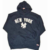 "Yankees ""Away"" Adult Navy Hooded Sweatshirt"