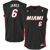 Lebron James Miami Heat Adult Replica Away Jersey