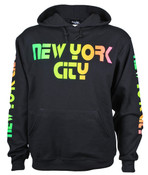 "New York ""Retro"" Black Hooded Sweatshirt"