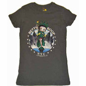 "Betty Boop ""Miss Liberty"" Grey Ladies Fitted Tee"