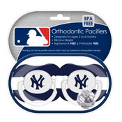 NY Yankees Pacifier 2-Pack