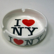 I Love NY Ceramic Ashtray