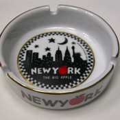 "NYC ""Night Skyline"" Ceramic Ashtray"