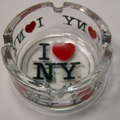 I Love NY Small Glass Ashtray