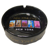 NYC Colorful Monuments Ceramic Ashtray