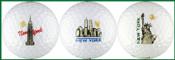 NYC Skyline Golf Ball White Variety 3-Pack