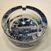 NYC Postcard Collage Small Glass Ashtray