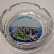 "NYC ""Downtown"" Glass Ashtray"