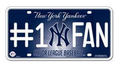 Yankees #1 Fan License Plate