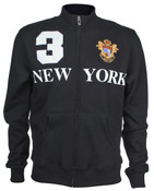 Black New York 3 Series Full Zip Sweatshirt - front