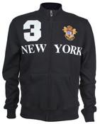 Black New York 3 Series Full Zip Sweatshirt - front