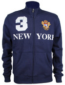 Navy New York 3 Series Full Zip Sweatshirt - front