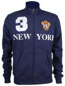 Navy New York 3 Series Full Zip Sweatshirt - front