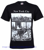Black NYC Famous Sites Tee