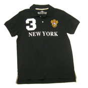 Black New York 3 Series Polo
