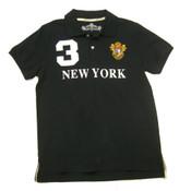 Black New York 3 Series Polo