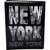 Black & White Letters Skyline Medium Photo Album