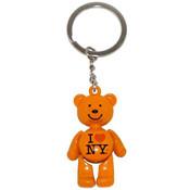 I Love NY Peach Bear Keyring
