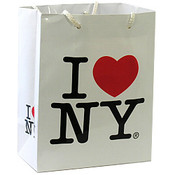 I Love NY White Gift Bag
