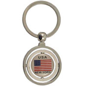 USA Flag Double Spinning Keyring