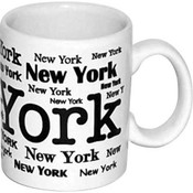 New York Allover White 4oz Mini Mug