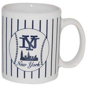 NY Baseball Pinstripe 4 oz Mini Mug