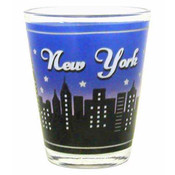 NY Night Skyline Shotglass
