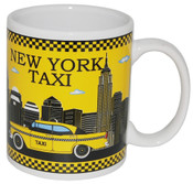 NY Taxi Skyline Yellow 11oz Mug