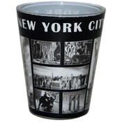 NY Black & White Windows Shotglass