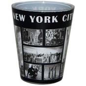NY Black & White Windows Shotglass