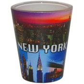 Sunrise/Sunset Skyline Postcard Shotglass