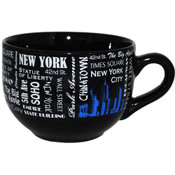 NYC Landmarks with Blue Skyline Soup Mug