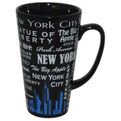 NYC Landmarks with Blue Skyline Java Mug