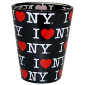 I Love NY Repeat Black Shotglass