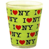 I Love NY Repeat Green Shotglass