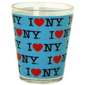 I Love NY Repeat Blue Shotglass