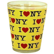 I Love NY Repeat Yellow Shotglass