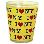 I Love NY Repeat Yellow Shotglass
