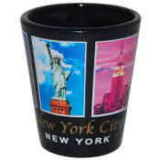 NYC 5 Color Windows Black Shotglass